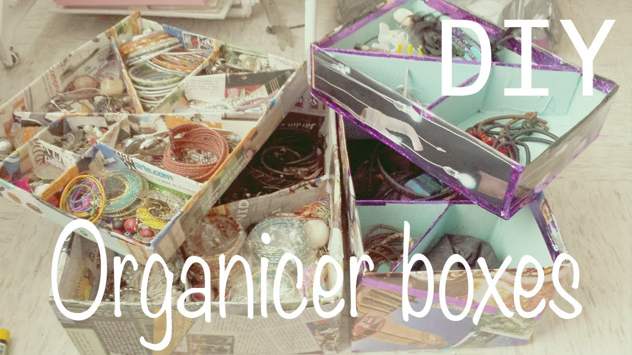 Make your own organizer boxes make up jewelry organizer
