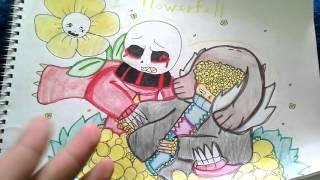 - Обзор на мои рисунки Flowerfell, Underfell