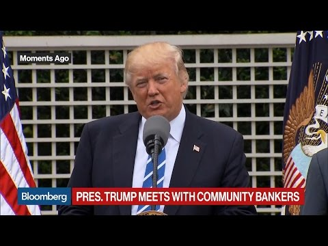 Trump Calls Community Banks 'Backbone' of Small Business