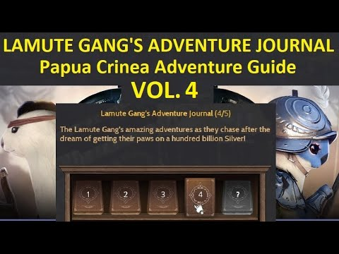 Guide Lamute Gang's Adventure Log Journal Volume 4 (Papua Crinea Adventure) [Time Stamp Available]