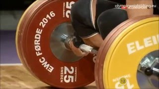 2016 Asian and European Weightlifting Best Lifts, Men 69 kg