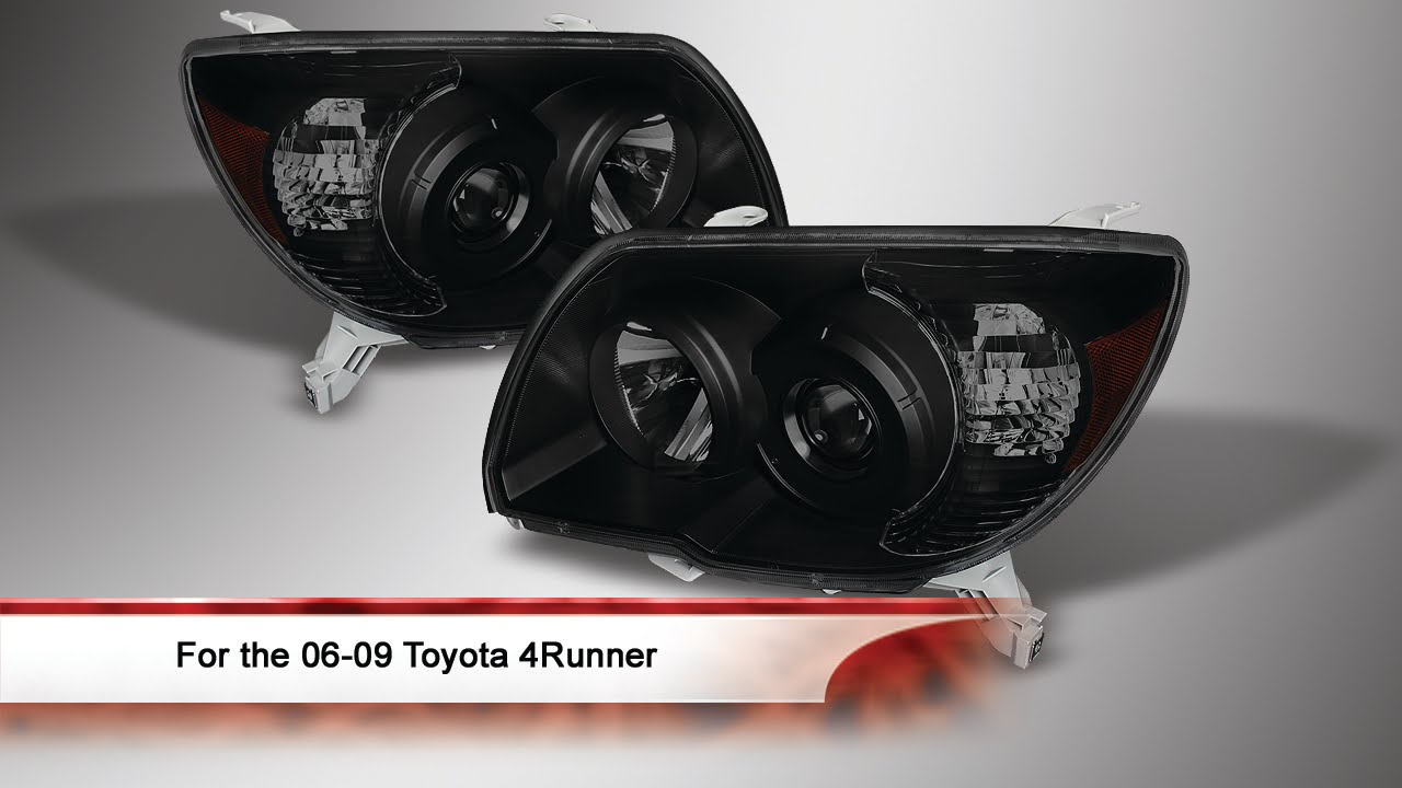 06 09 Toyota 4runner Crystal Headlights