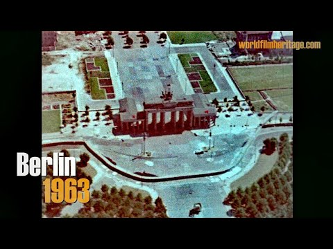 Berlin Wall 1963 - Bird´s eye view - Brandenburg Gate, Reichstag, Victory Column & more