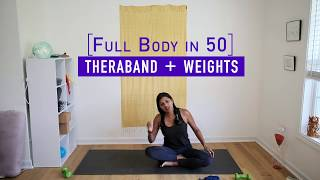All Levels. Full Body in 50: Optional theraband and (minimal) weights