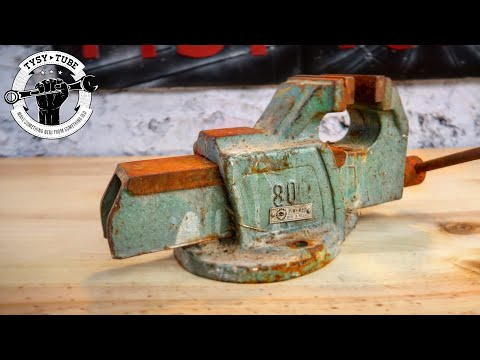 Rusty Vice Gets A New Life - Restoration