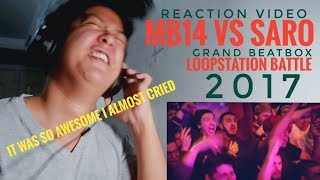 REACTION | MB14 vs SARO | Grand Beatbox LOOPSTATION Battle 2017 | SEMI FINAL
