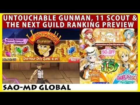 Untouchable Gunman, 11 Scout, Next Guild Ranking & Popstar Online Live Battle Part 2 (SAOMD)