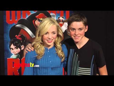 Peyton List and Spencer List WRECK-IT RALPH World Premiere Cherry-Red Carpet ARRIVALS