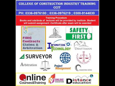 CONSTRUCTION INDUSTRY COURSES LAW FIDIC SAFETY CIVIL SURVEYOR ARBITRATION ON LINE EDUCATION PROJECT