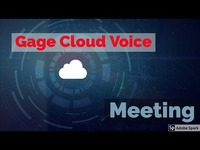 Gage Cloud Voice Meeting