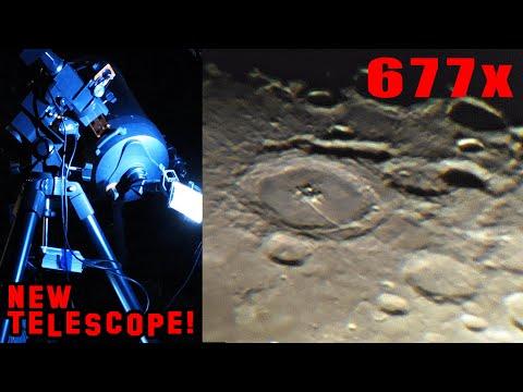 ЛУНА ▶ СУПЕР УВЕЛИЧЕНИЕ 677Х ! Новый телескоп Celestron C8 диаметром 200 мм