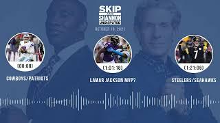 Cowboys/Patriots, Lamar Jackson MVP?, Steelers/Seahawks | UNDISPUTED audio podcast (10.18.21)