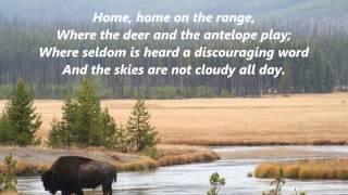 HOME on the RANGE KANSAS STATE SONG ANTHEM words lyrics popular favorite  folksongs sing along song