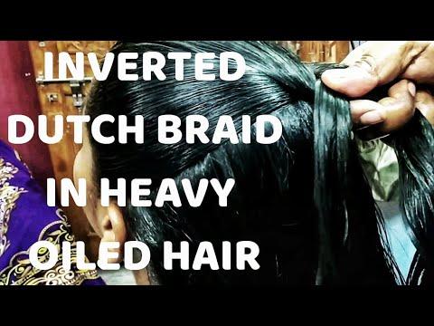 sleek-tight-high-inverted-dutch-braid-in-heavy-oiled-hair-l-french-plait-l-ulthi-sagar-choti-l-tel