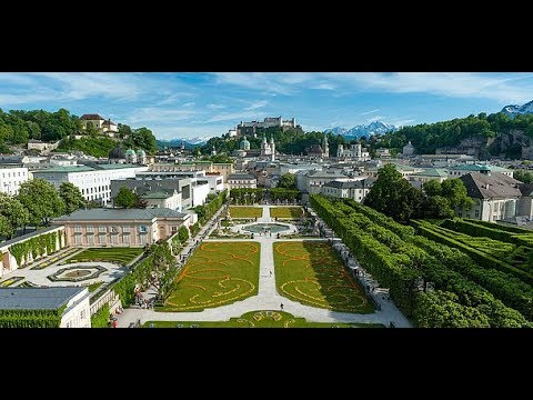 Tourist attractions in Salzburg Austria .  Austria trip