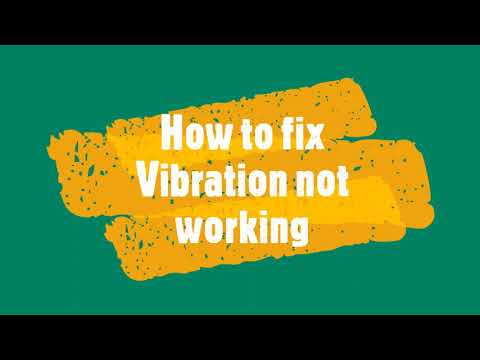 Fixed - Vibration not working on