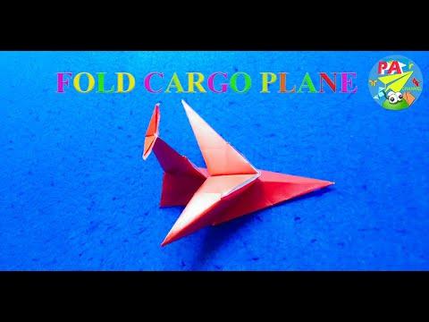 Cách gấp máy bay vận tải  Xếp giấy Origami