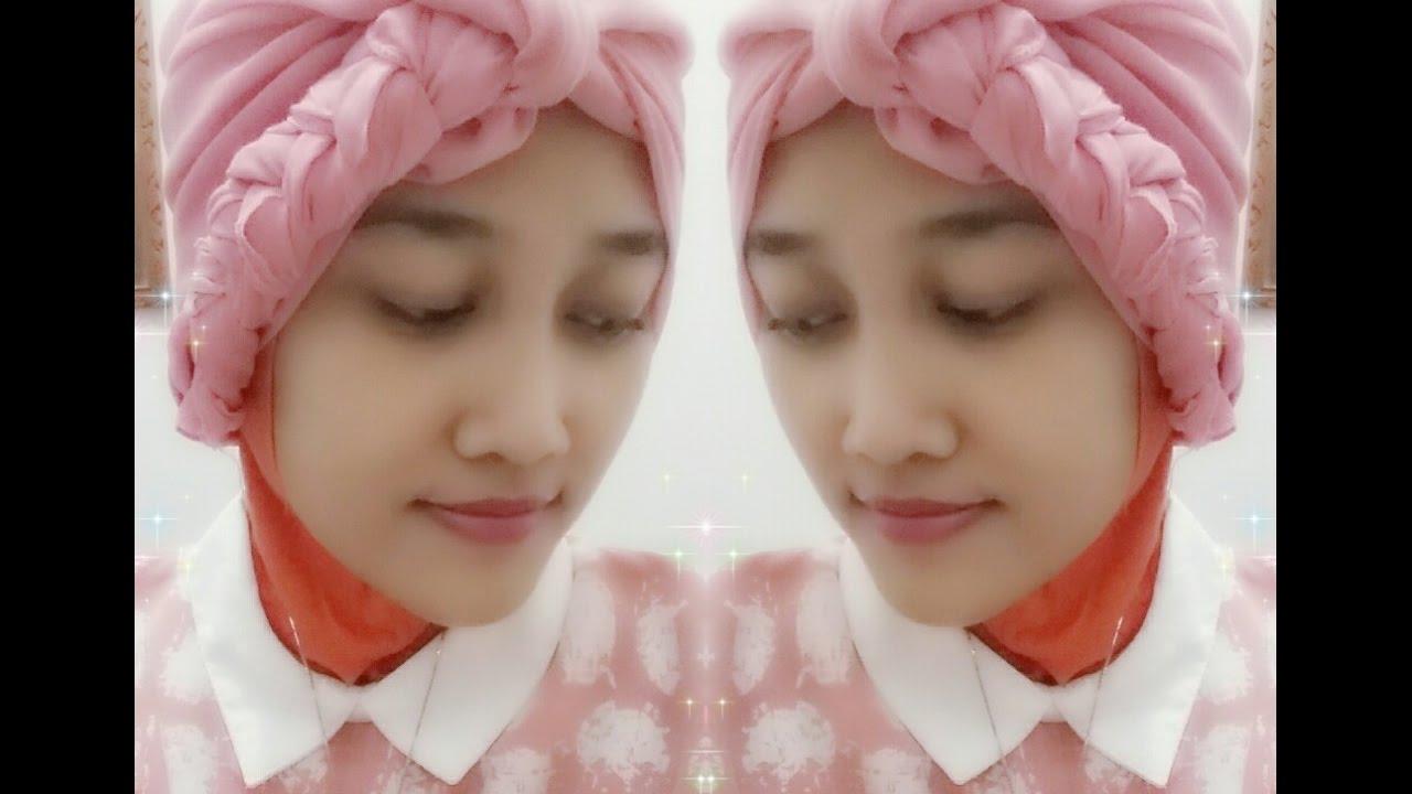Tutorial Hijab Segiempat Hijab Turban Kepang Youtube