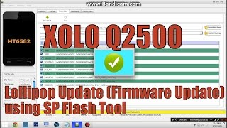 [AOSP] XOLO Q2500 True Android LOLLIPOP (5.0.2) | How To Flash | Learn How To Use SP Flash Tool
