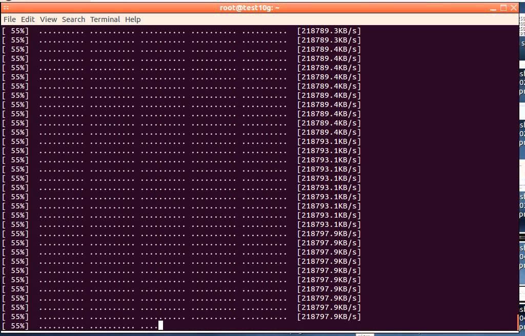 VPSDime - Dallas 10Gbit SSD Nodes Bandwidth Benchmark
