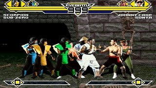 Mortal Kombat Party 4v4 Patch MUGEN 1.0 Battle!!!