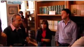 Matteo Renzi visita la casa di Peppino Impastato