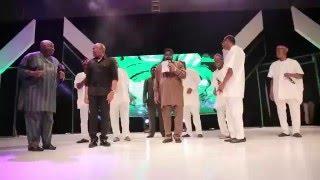 Watch the billionaires Chief Dele Momodu Mr Femi Otedola and Mr Tony Elumelu dance