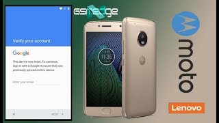 Remove Google Account Bypass Frp On All Moto G Android 7 (Moto G5 Plus)