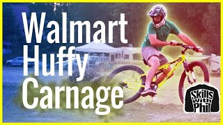 Will a Walmart Huffy survive a Downhill Mountain Bike Trail? | Skills with Phil(Walmart mountain bikes are not made for downhill MTB trails. Curiosity got the best of me so picked up a Huffy Carnage at my local Walmart. Will a Walmart ..., 2016-06-26T21:51:47.000Z)