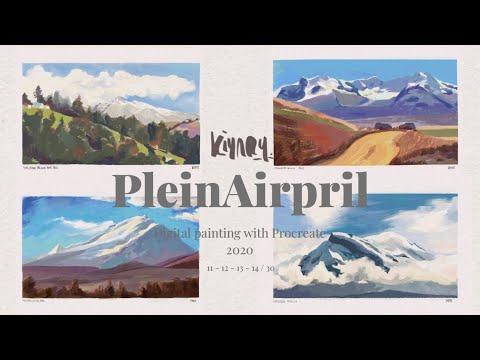 PleinAirpril Days 11 to 14 – Digital Pleinair Landscape painting on Procreate