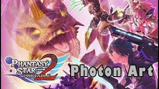 Phantasy Star Portable 2 All Photon Arts