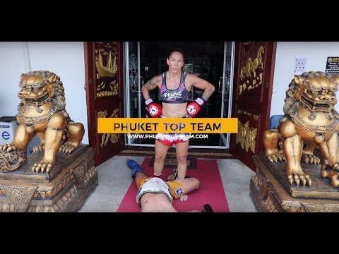 Cris Cyborg Crazy Extreme Muay Thai Pad work training Phuket Top Team