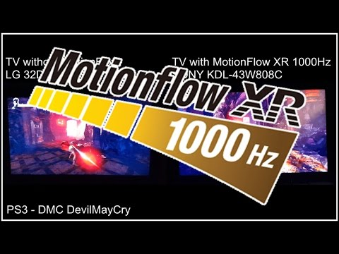 MotionFlow XR : TV With MF and Without MF