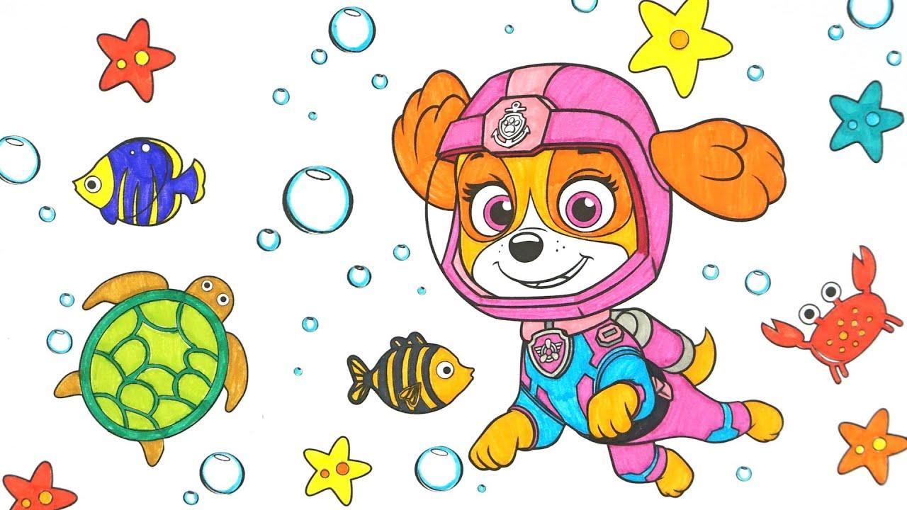 Щенячий Патруль раскраска Скай.  Сюрпризы и игрушки из мультиков