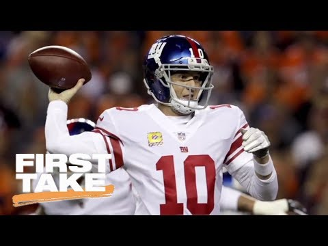 Eli Manning voted most overrated QB in NFL players survey | First Take | ESPN