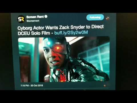 Ray Fisher Wants Zack Snyder to Direct His Cyborg Solo Film