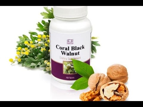 Экстракт листьев черного ореха. Борется с гельминтами и грибами рода candida, способствует нормализации стула и улучшению работы кишечника.
