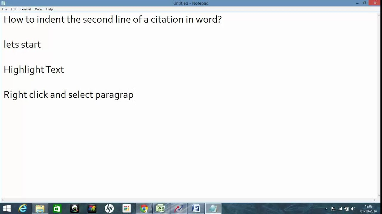 How To Indent The Second Line Of A Citation In Word?