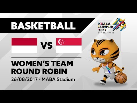 KL2017 29th SEA Games | Women's Basketball - INA 🇮🇩 vs SGP 🇸🇬 | 26/08/2017
