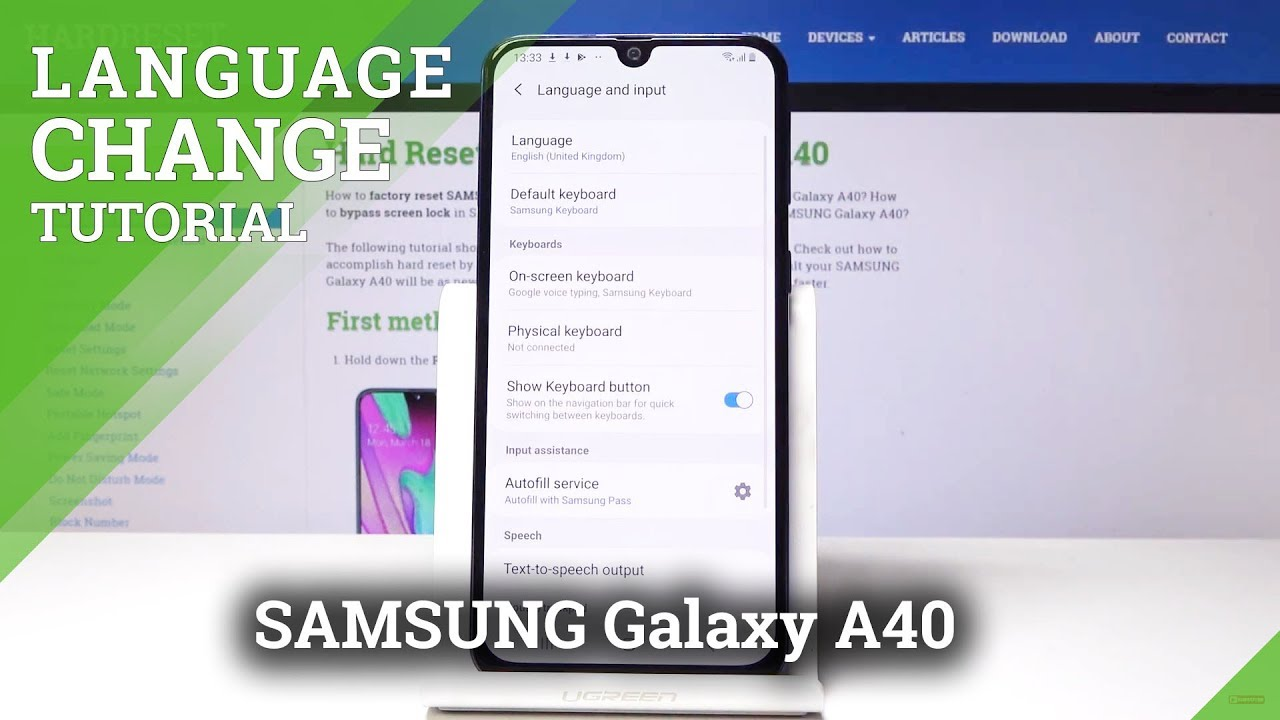 SAMSUNG Galaxy A40 HOW TO CHANGE LANGUAGE