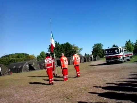 2014-05-04 h. 09.16 - Campo CRI di Cilavegna (PV) - Alza Bandiera con Inno nazionale cantato