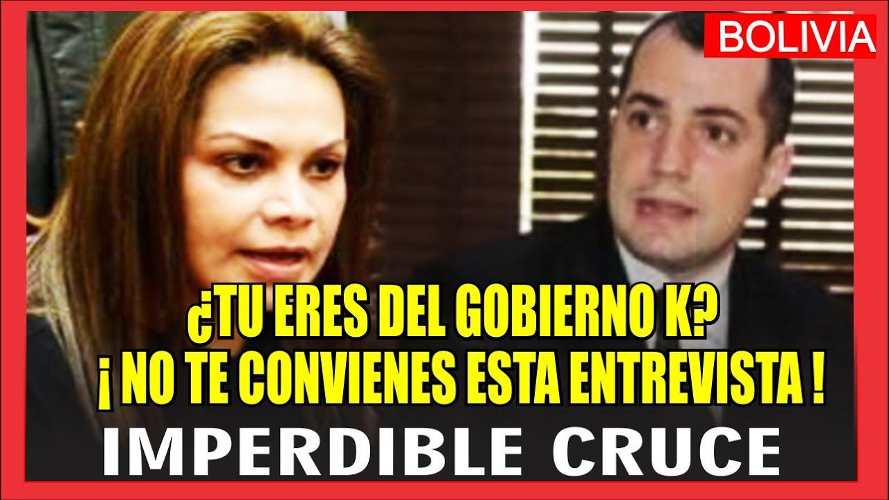 """NO ME HAGAS REÍR"" Candente cruce entre la ex ministra de Áñez Roxana Lizárraga y Juan Cruz C."