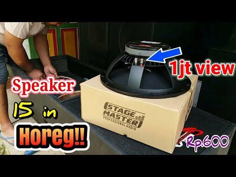 Speaker 15in tenaga alap alap   murah kualitas tinggi   unboxing speaker stage master 15in