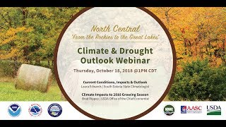 October 2018 North Central U S  Monthly Climate and Drought Summary and Outlook