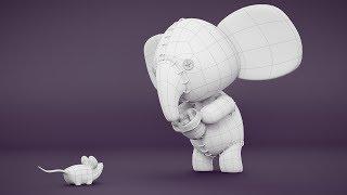 CGC Classic: Creating a Stuffed Elephant pt. 1 - Modeling (Blender 2.6)