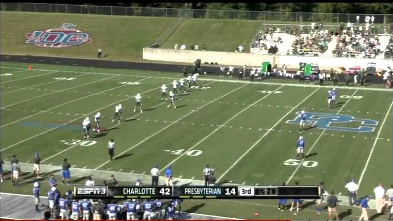 Alex petzke on tv 9 28 13 unc charlotte 49ers vs presbyterian college youtube - Wallpaper store charlotte nc ...