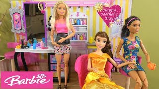 Princess Belle Surprise Mother's Day Gift: Princess Makeover, Barbie Hair Salon, Barbie New Fashion