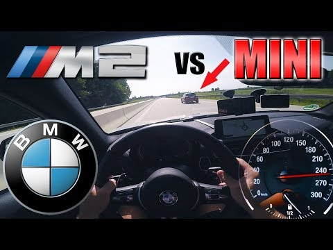 BMW M2 Meets ANGRY Flashing MINI On German Autobahn✔