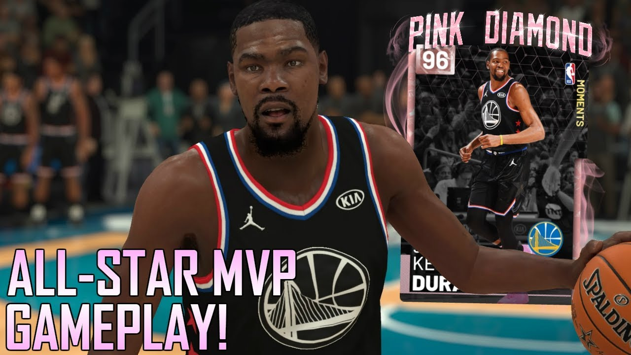 2191364cc5f8 PINK DIAMOND KEVIN DURANT ALL STAR MVP GAMEPLAY!!! THE 3PT ASSASSIN ...