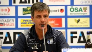 Pressekonferenz - 1. FC Magdeburg gegen FC Carl Zeiss Jena 3:0 (2:0) - www.sportfotos-md.de